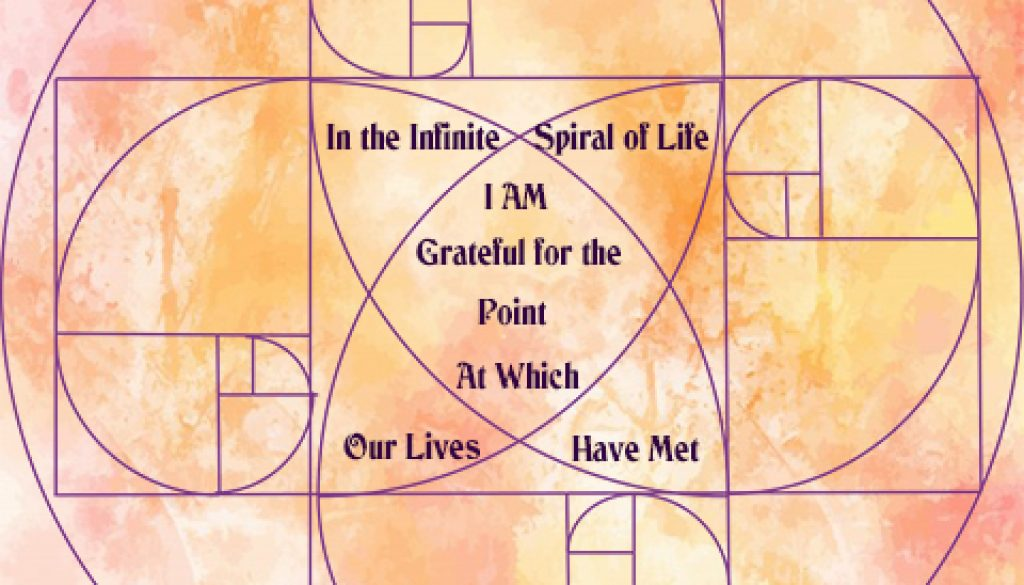 Spiral Circle I am Grateful