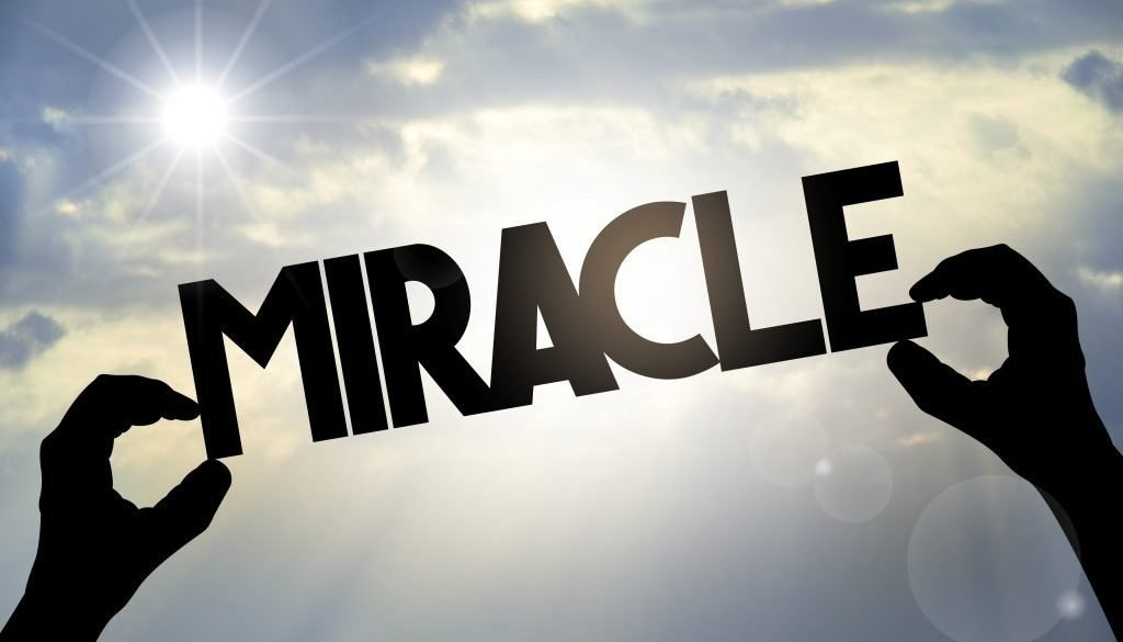 Miracle concept, hands